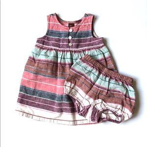 Striped Tea Collection dress